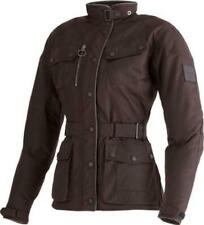 Triumph Barbour Lady Oxblood Waxed Cotton Motorcycle Jacket D30 Armour