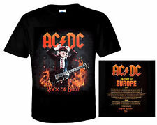 AC/DC official Camiseta highway to Europe heavy metal rock 'n' Roll ACDC Angus
