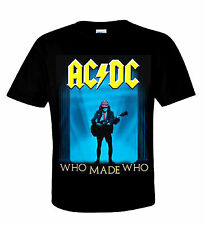 AC/DC Camiseta WHO MADE who Heavy Metal Australian Rock 'N' Roll Angus Young