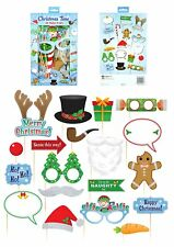 Christmas Photo Prop Set Booth Selfie Props Set Party Decoration Picture Xmas