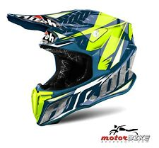 CASCO HELMET AIROH OFF ROAD TWIST IRON BLUE GLOSS