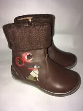 Lea Lelo brown leather zip up winter boots.