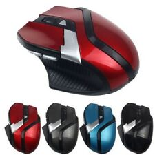 2.4GHz 6 pulsanti OTTICO WIRELESS REGOLABILE Mouse con filo per PC Laptop