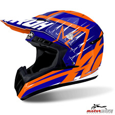 CASCO HELMET AIROH OFF ROAD SWITCH STARTRUCK BLUE GLOSS