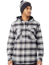 Giacca Snowboard Analog ATF Kaiden Hooded Flannel True Nero Pacific Plaid