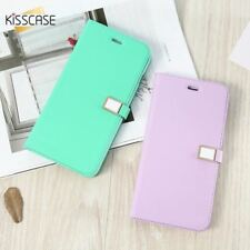 Flip Case For iPhone 7 6 5S 5C 4S case Candy Color Leather Case Wallet Card Slot