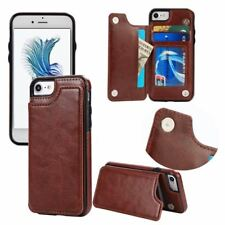 Leather Flip Stand Case for iPhone 6 6s Plus 7 8 Plus X Cover for Samsung S7 Edg