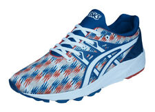 Asics Gel Kayano Trainer EVO Mens Running Trainers / Sports Shoes - Blue White