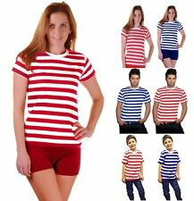 Mens Womens Red And White Stripe Tshirt Kids Blue And White Stripe Book Week Top