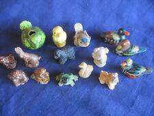 Lot of 15 Ceramic Bone China Assorted Miniature Animals Ducks-Dogs-Frog-Koala...