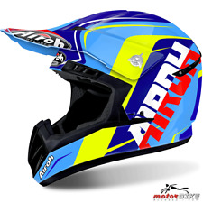 CASCO HELMET AIROH OFF ROAD SWITCH SIGN BLUE GLOSS