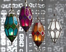 Moroccan style~Large hanging glass lantern tealight holder-NEW