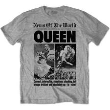 OFFICIAL LICENSED - QUEEN - NEWS OF THE WORLD FRONT PAGE 40TH T SHIRT MERCURY