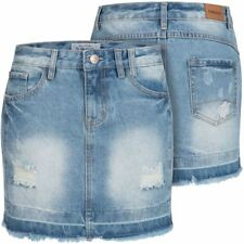 Sublevel Damen Jeans Rock LSL-286 Jeansrock Damenrock Röckchen denim kurz Skirt
