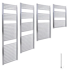 SALE : AURA Straight Chrome Electric Towel Warmer / Heated Towel Rail Radiator