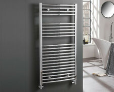 AURA Towel Warmer / Heated Towel Rail Radiator, Curved Chrome, Bathroom Kitchen