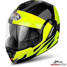 CASCO HELMET AIROH FLIP UP REV FUSION YELLOW GLOSS
