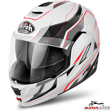 CASCO HELMET AIROH FLIP UP REV REVOLUTION WHITE GLOSS