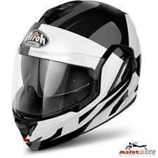 CASCO HELMET AIROH FLIP UP REV FUSION WHITE GLOSS
