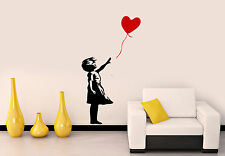 Banksy Childhood Girl with red Balloon Wall Stickers, Wall Decal Banksy graffiti