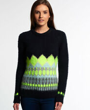 Superdry Mujer Jersey de punto Ombre Brushed Fairisle Navy
