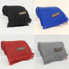 Women Winter Warm Cashmere Soft Plain 100% Pashmina Handmade Shawl Wrap Scarf
