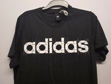 Adidas Linear Tshirt sizes small and medium black / maroon