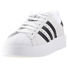 adidas Superstar Bold Womens White Leather Casual Trainers Lace-up New Style