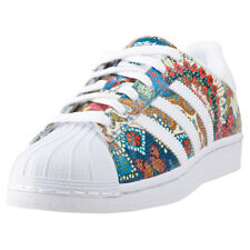 adidas Superstar Womens Multi-Colour Leather Casual Trainers Lace-up New Style