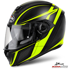 CASCO HELMET AIROH FULL FACE STORM SHARPEN YELLOW MATT