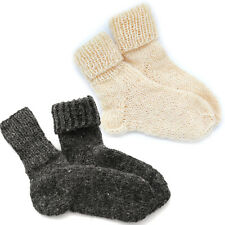 69c5af0886b Natural Pure Sheep Wool Hand Made Knitted Socks Wellington Hiking Walking  Boots
