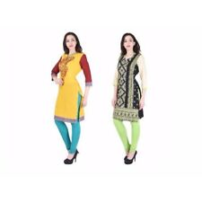 2 Pc kurti Combo Cotton desiner Casual Printed Women's Kurtis  7034,7037