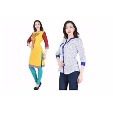 2 Pc kurti Combo Cotton desiner Casual Printed Women's Kurtis  7004,7037