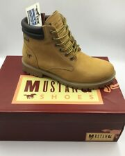 Chaussures montantes en cuir MUSTANG 4875-604 camel neuf