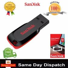 SanDisk 64GB  & 128GB Cruzer Blade USB Flash Pen Drive Memory Stick New UK Stock