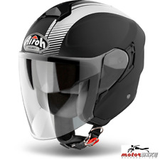 CASCO HELMET AIROH URBAN JET HUNTER SIMPLE BLACK MATT