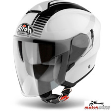 CASCO HELMET AIROH URBAN JET HUNTER SIMPLE WHITE GLOSS