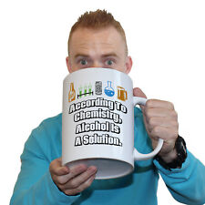 Funny Mugs According To Chemistry Alcohol Is A Solution Dad GIANT MUG