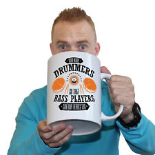 Funny Mugs BM God Created Drummers So Bass Players Could Have Heroes GIANT MUG