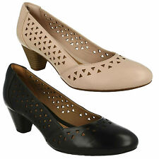DENNY DALLAS Clarks da donna slip on, in pelle tacco medio CALZATA LARGA
