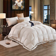 Luxury White Goose Down Feather Winter 4 Seasons Duvet Quilt Comforter-4 Sizes