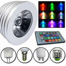 Magic RGB Ampoule E14 GU10 E27 MR16 LED 3W 16 Couleurs Chang Lampe + 24K