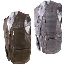 Men's Fishing Vest Multi-Pockets Photography Travelling Jacket Quick-Drying Vest