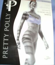 4 PAIR OF PRETTY POLLY COOL SLIMMING 10 DENIER CONTROL TOP TIGHTS BLACK 3 SIZES