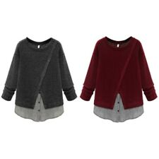 Women Long Sleeve Knit Sweater Casual Knitwear Jumper Pullover Shirt Blouse Tops