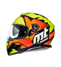 MT Helmets - Casco integral MT Thunder 3 SV Torn amarillo, naranja