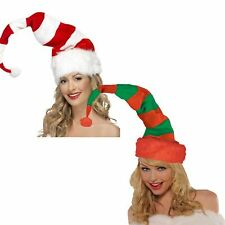 Christmas Soft Striped Bendy Xmas Hat Costume Party Fancy Dress Accessory Grinch