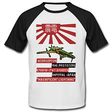 KYUSHU J7W1 SHINDEN - NEW COTTON BASEBALL TSHIRT