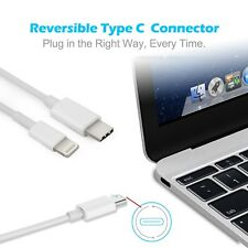 Lightning to Type C USB Cable Data Charger Lead for iPhone, iPad, Macbook,iPod