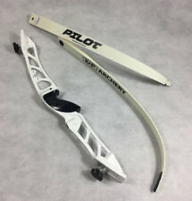 Archery Men's Metal Recurve Bow Set Complete With String & Arrow Rest **White**